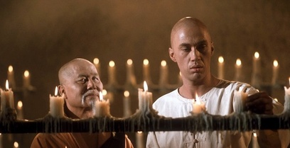 Keye Luke, and David Carradine in Kung Fu, 1973.