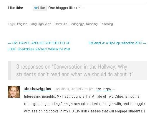 comments from blog