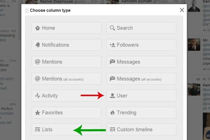 Add column user or list2