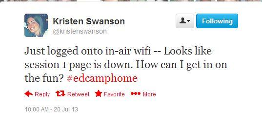 Kristen Swanson Tweet